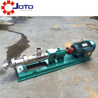 G10 0.35kw high viscosity SUS304 stainless steel G type single screw pump