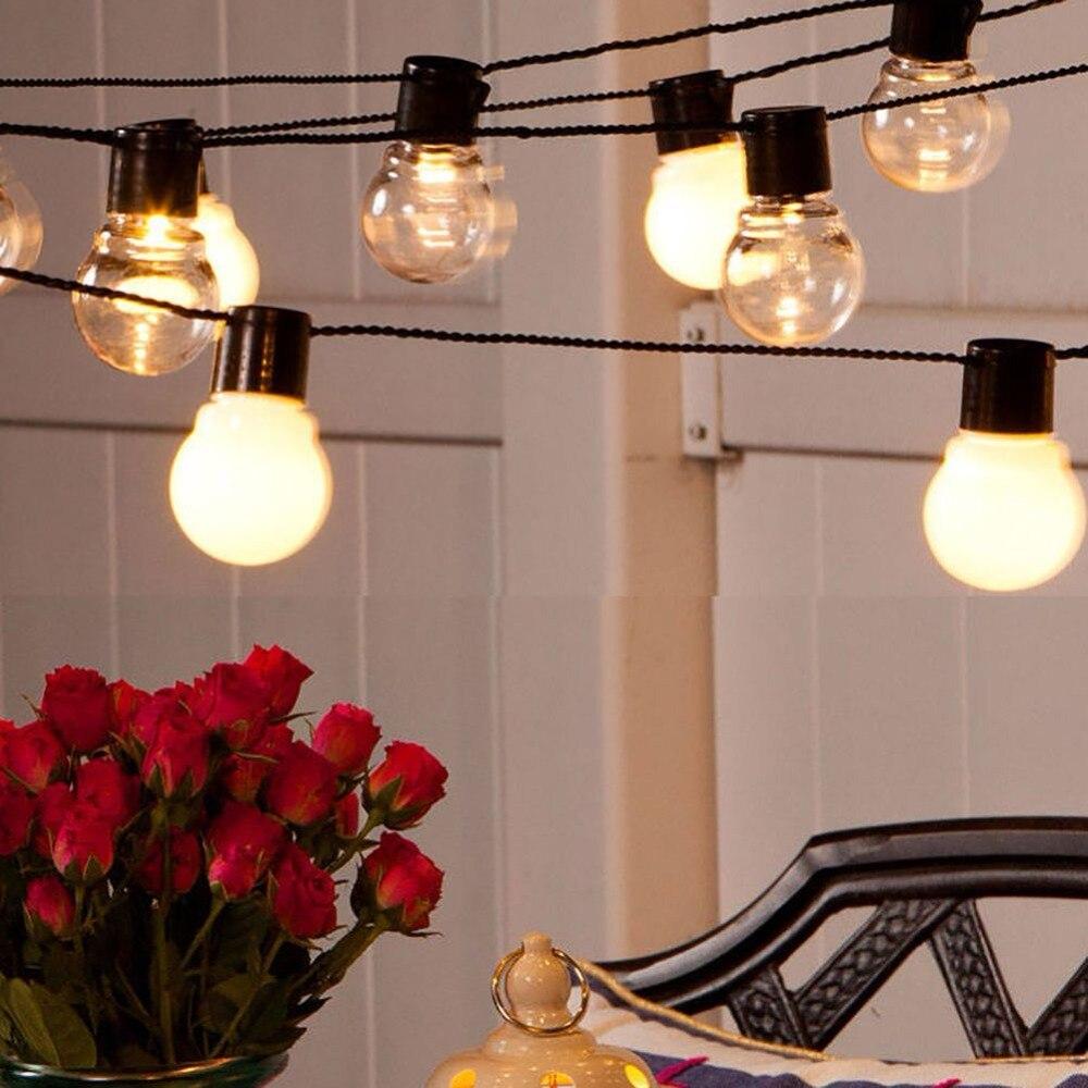 Led globe bulb led string lights outdoor waterproof led ball string garland party wedding Backyard Patio