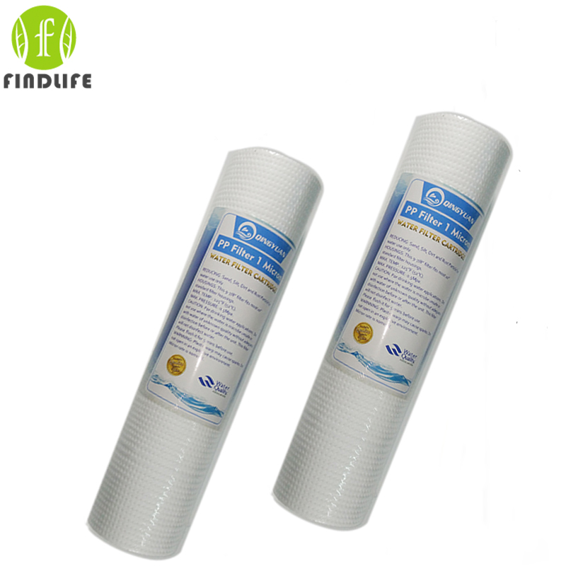2 Pces 10 INCH 1 MICRON PPF/SEDIMENT WATER FILTER CARTRIDGE Water Purifier Front Filter Cartridge Aquarium FOR REVERSE OSMOSIS 6 pcs micron arctic spa filter for arctic spas 2009 800 sqf active skim micro filter cartridge