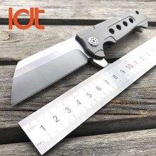 Ldt шарикоподшипник складные ножи d2 стеклоочистителя titanium ручка флиппер тактический нож охота кемпинг выживания карманный нож инструменты edc