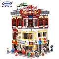 XingBao 01006 Echte Creatieve MOC Stad Serie 5491 Pcs De Speelgoed en Bookstore Set Bouwstenen Bakstenen Speelgoed DIY Model geschenken