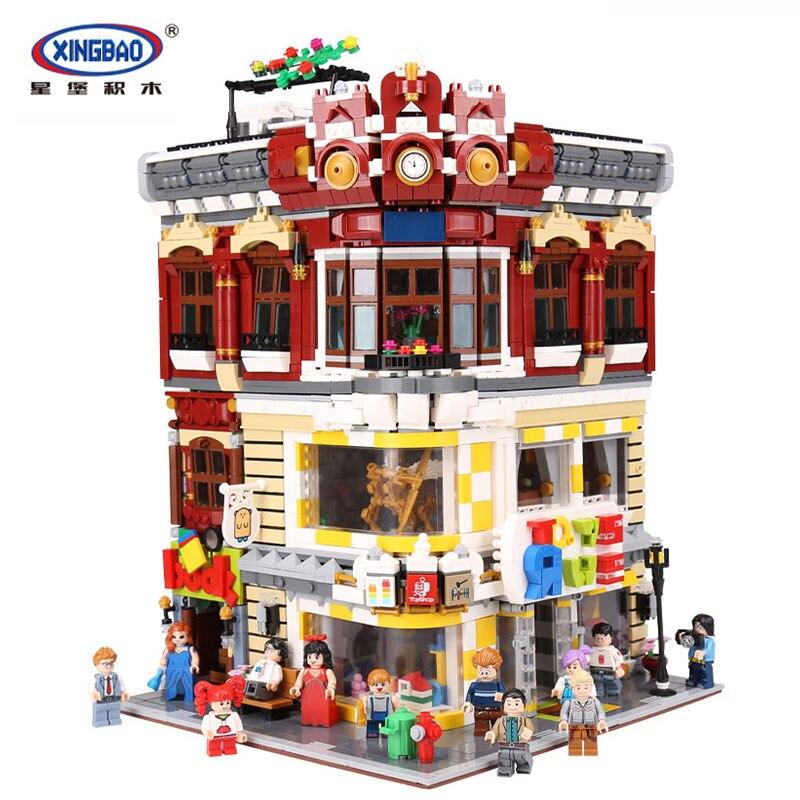 XingBao 01006 véritable créatif MOC City série 5491 pièces les jouets et librairie ensemble blocs de construction briques jouet bricolage modèle cadeaux