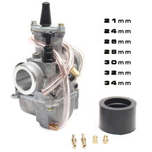 2T 4T Universal pwk Motorcycle Carburetor Carb 21 24 26 28 30 32 34mm With Power Jet For Racing Moto