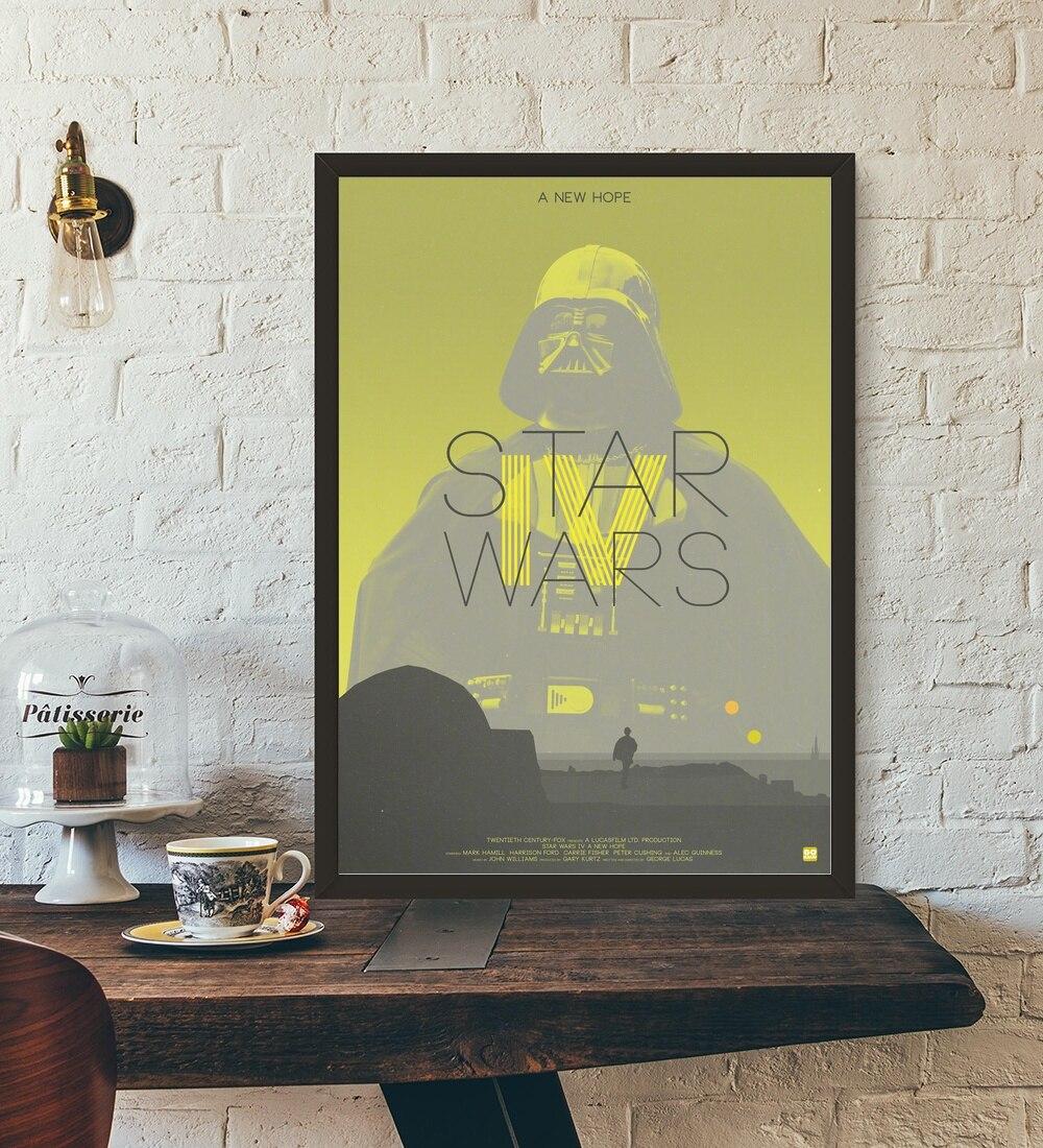 STAR WARS EPISODE IV A NEW HOPE Movie Wall Art Wall Decor Silk ...