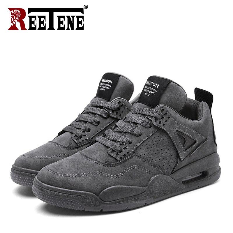 REETENE Autumn Winter Shoes For Men Comfortable Lace-Up Sport Shoes Men Running Comfortable Sneakers Winter Men'S Size 39-45