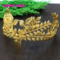 2016 Hot Sale Vintage Olive Branch Gold Plated Leaf Hair Accessories Bridal Headpieces Hair Comb Wedding Tiaras For Brides