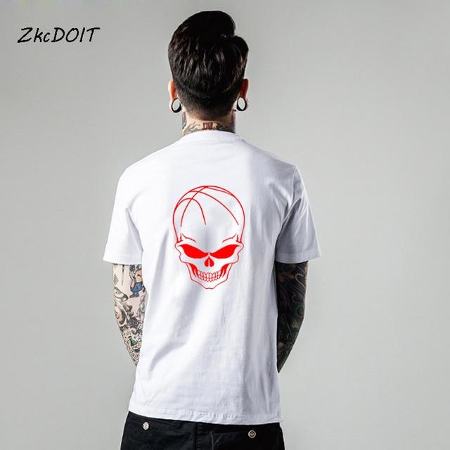 13f438c4d6df LeBron James jersey men t shirt brand clothing basketbal tee shirts homme short  sleeves t shirts  23 Skull t-shirt