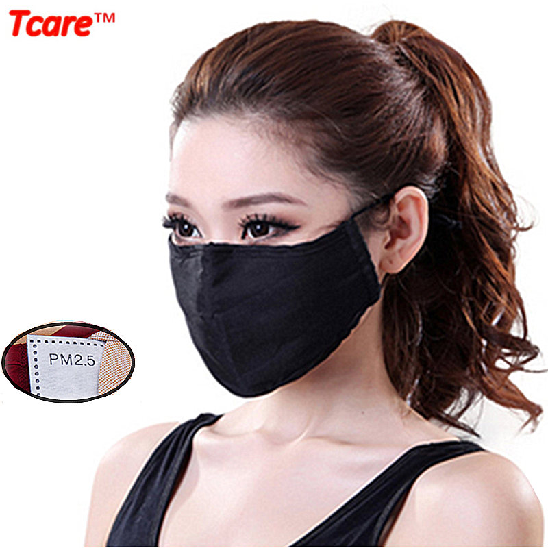 Tcare Unisex Soft Cotton Mouth Mask PM2.5 Filter Anti Dust Mask Gas Pollution Mask Health Care Anti-fog Haze Masks outdoor cycling anti dust mask non woven mouth respirator dust face masks new pm2 5 breathable anti fog cotton mask unisex