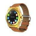 Q2 Bluetooth Smart Watch MTK 2502 64 МБ + 128 МБ Heart Rate Monitor Smartwatch Натуральной Кожи Наручные Поддержка Вызова Сообщений синхронизации