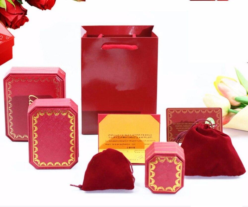 Takı ve Aksesuarları'ten Takı Ambalajlama ve Sergileme'de Düşük Fiyat Kırmızı Renk yüksek kaliteli Takı Hediye Bilezik Kolye yüzük ambalaj kutusu Kağıt Torba Toz torbalar Etiketi Sertifika Seti PK11'da  Grup 1