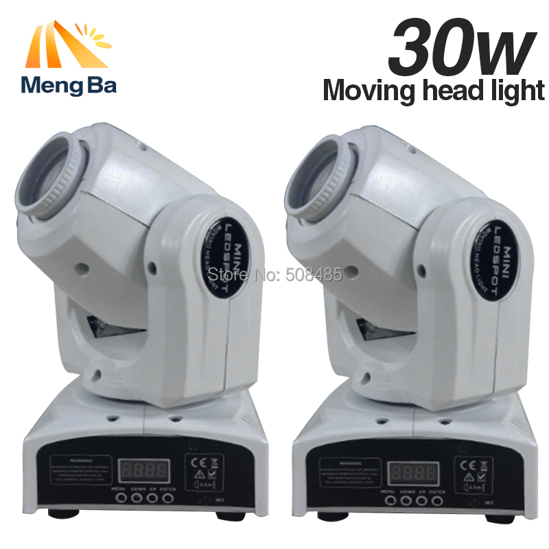 1lot 2pcs 30W Spot Gobo moving head light dmx controller led stage lighting DJ wedding christmas decorations stage light par led 10w disco dj lighting 10w led spot gobo moving head dmx effect stage light holiday lights