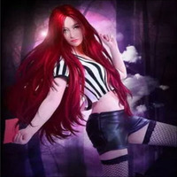 LoL Game Costume Katarina The Red Card Cosplay Halloween Costumes For Girls Women High Qualtity Customized