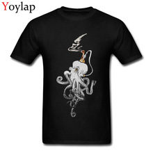 Newest Design Men's Tops & Tees Cotton T Shirts Unique Summer/Fall Short Sleeve Crew Neck Clothing Steampunk Octobrass Black