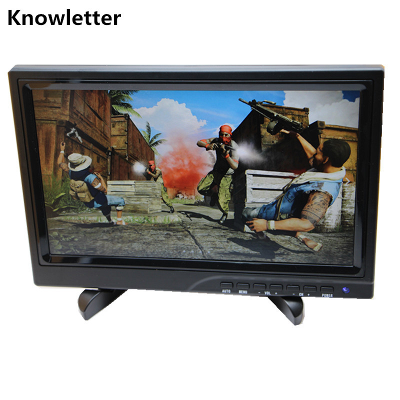 10 1 Widescreen 1280x800 IPS LED Panel 1080P Monitor Support HDMI Game Console Raspberry Pi