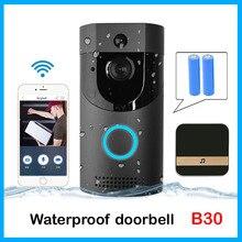 Anytek B30 wifi дверной звонок B30 IP65 Водонепроницаемый Смарт видео дверной звонок 720P беспроводной домофон FIR сигнализация ИК Ночное Видение IP камера