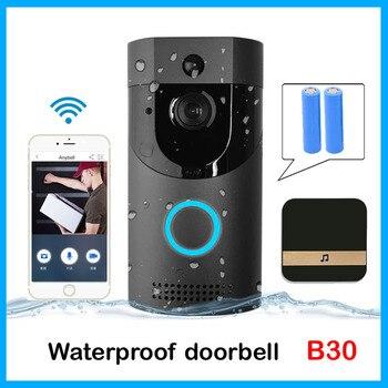 Anytek B30 WIFI dzwonek B30 IP65 wodoodporny inteligentny dzwonek do drzwi wideo 720P interkom bezprzewodowy jodła Alarm IR night vision kamera IP