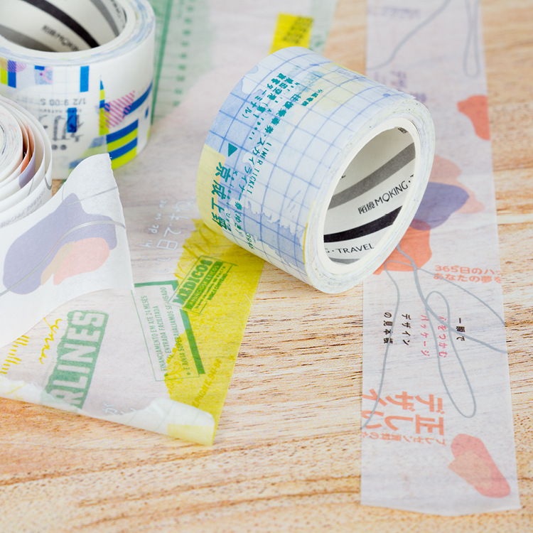 1 Stks/partij Diy Japanse Papier Washi Masking Tapes Yu Bai Bronzing Decoratief Plakband Stickers/schoolbenodigdheden Meer Comfort Voor De Mensen In Hun Dagelijks Leven