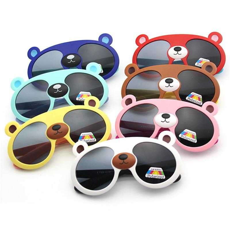 Humor Latasha Polarisierte Kinder Sonnenbrille Jungen Mädchen Baby Infant Sonnenbrille Uv400 Silica Gel Schöne Bär Jungen Kleidung Sonnenbrillen