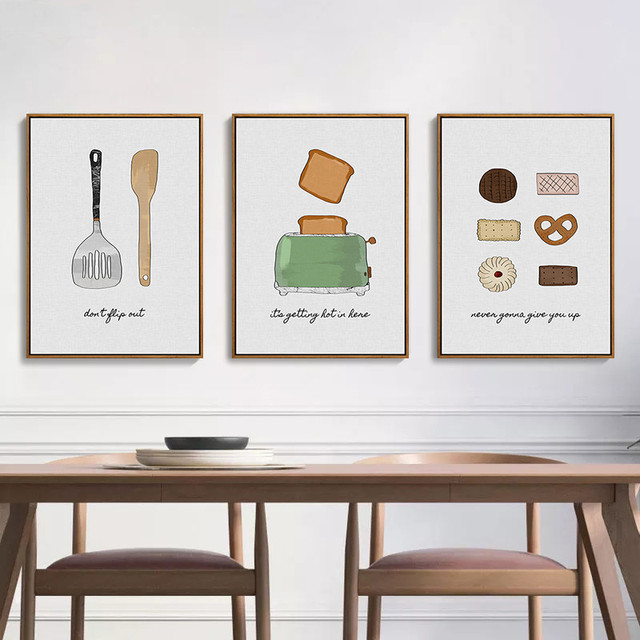 Incroyable HEYCUADRO Kitchen Cook Style Knife And Fork Wall Poster Prints Dining Room  Home Decor No Frame