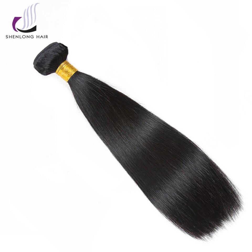SHENLONG волос перуанской пучки волос плетение 1 шт. натуральный Цвет 100% Пряди человеческих волос для наращивания 8 -26 не Волосы remy Бесплатная д... ...