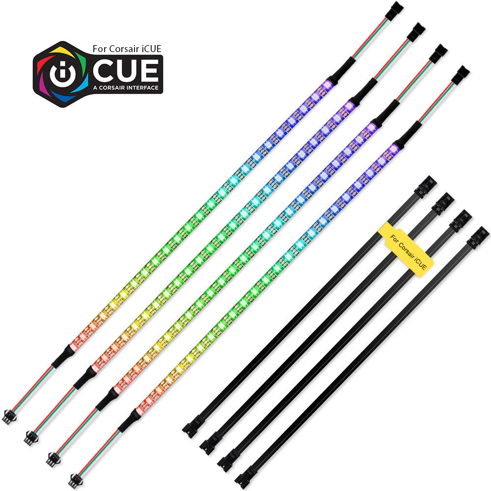 40cm Addressable WS2812b Digital LED Strip Rainbow RGB LED