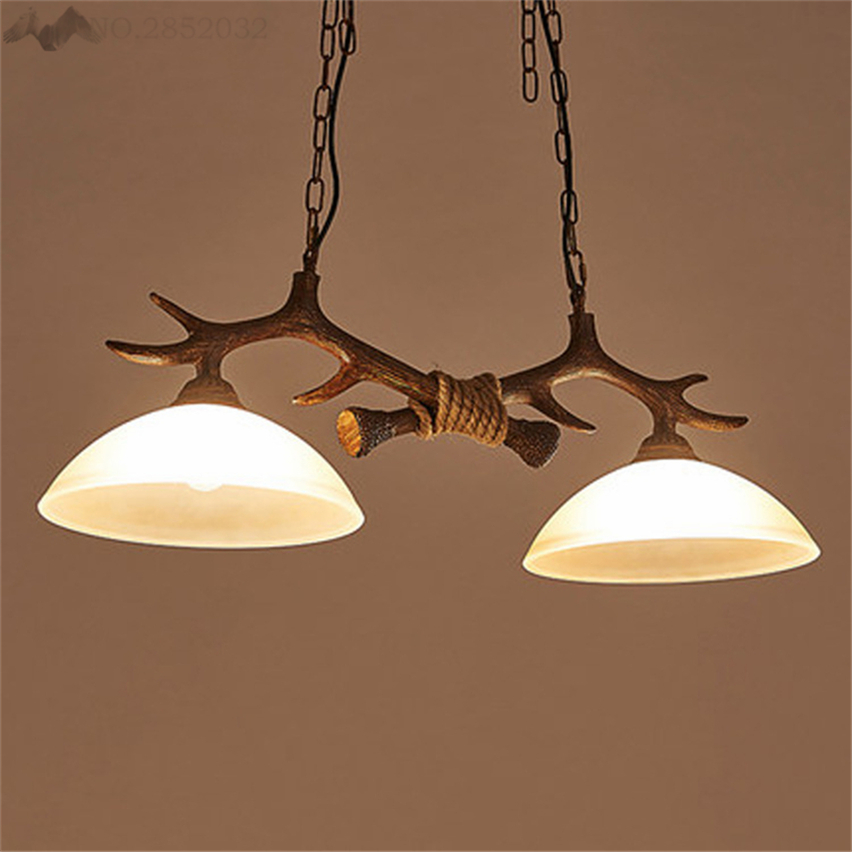 EuropeanStyle Simple Antlers Resin Chandelier Lamp Modern Antler Lustre Chandeliers Vintage Lights Pendant