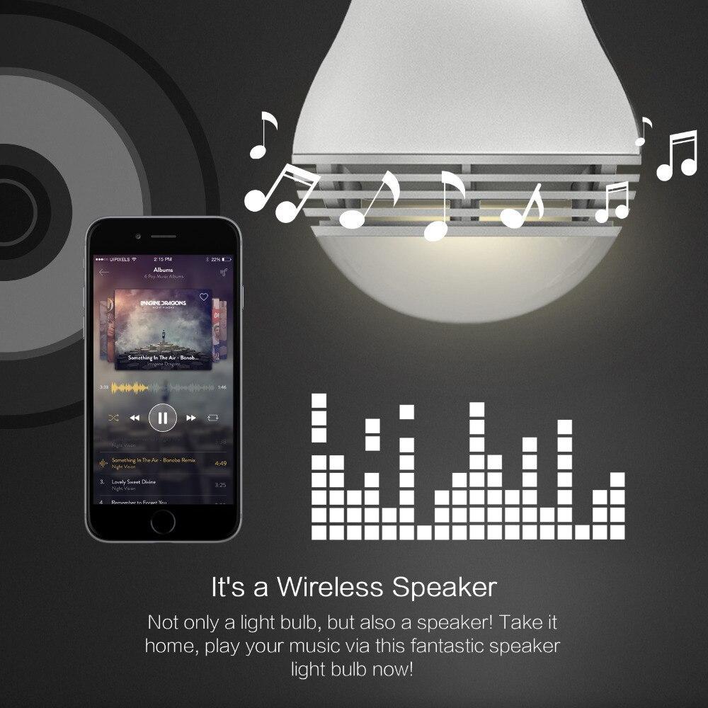 font b Smart b font LED Bulb Bluetooth Speaker LED Wireless Music Player with APP