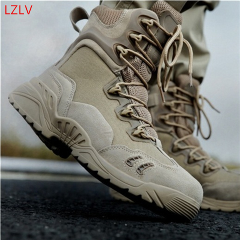 LZLV High-quality Men's Breathable Comfort Military Boots Fashion Boots