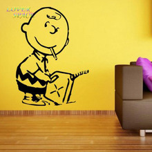 Custom Made Banksy – Charlie Brown Firestarter – Vinyl Wall Sticker Many colours New Wall Stickers Home Decor LP131205