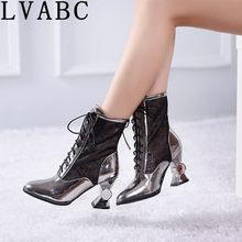 Sandalias de tacón alto para mujer, zapatos de modelado con zapatos dorados y plateados, color negro, novedad de verano 2018, 32 33 43 44
