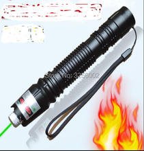 Buy online NEW High Powered Military Green Laser Pointer 100000mw 100w LAZER Flashlights 532nm focusable burning match,burn cigarettes