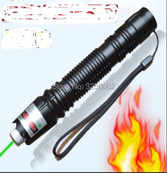 NOUVEAU Haute Puissance Militaire Pointeur Laser Vert 100000 mw 100 w LAZER lampes de Poche 532nm focalisables brûler l'allumette, brûler des cigarettes
