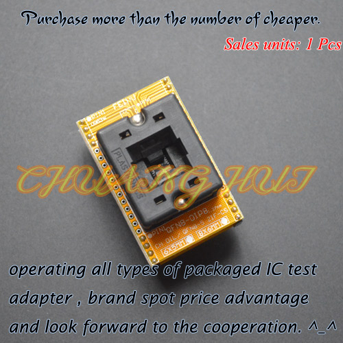Open-Top Socket QFN8 to DIP8 Programming Adapter WSON8 DFN8 MLF8 Adapter ic test socket Pitch=1.27mm Size=6x8mm купить
