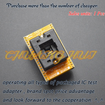 Open-Top Socket QFN8 to DIP8 Programming Adapter WSON8 DFN8 MLF8 Adapter ic test socket Pitch=1.27mm Size=6x8mm sop8 to dip8 so8 soic8 enplas ic programming adapter test burn in socket 3 9mm width 1 27mm pitch