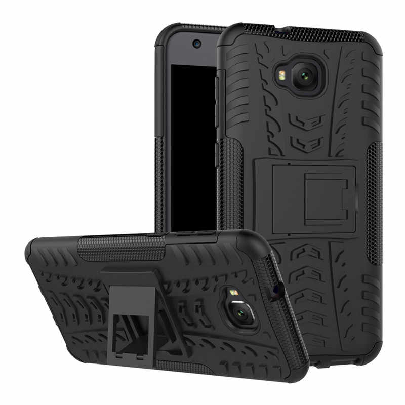 Business Armor Shockproof Stand Case For Asus Zenfone 4 Selfie ZD553KL 5.5 Hard PC Plastic Soft TPU Silicone Back Cover