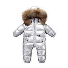 90% Duck Down Jacket For Girl,6-24m Russia Winter Snowsuit Fashion Design Kids Overcoat Boy And Girl Newborn Clothes Jumpsuits