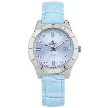 2017 Top-venta de la nueva marca de lujo mira a las mujeres clásicas gracia vestido de mujer de cuarzo reloj de pulsera impermeable 50 m CASIMA #2620