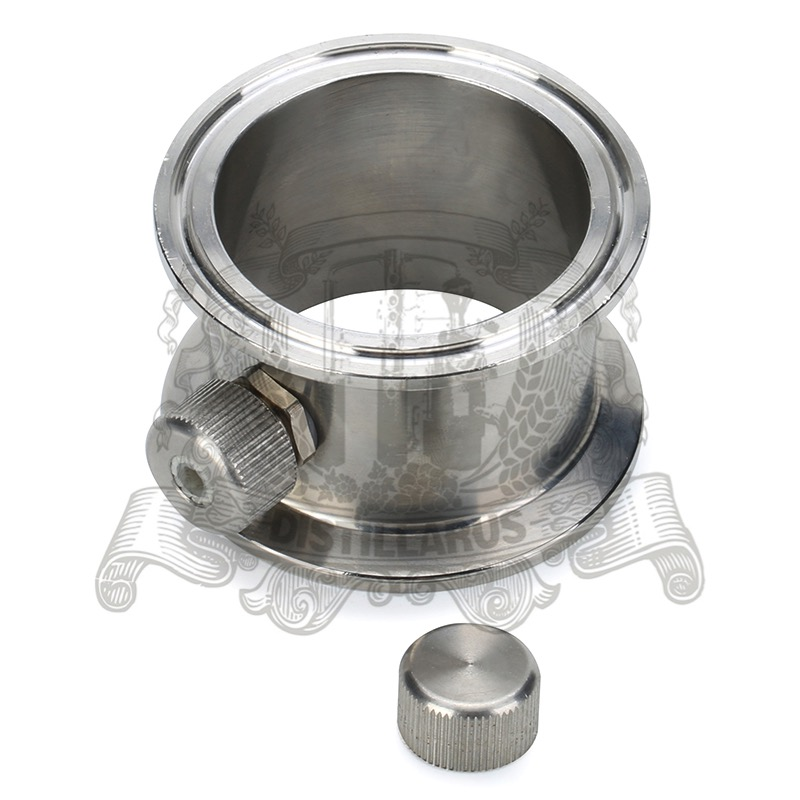 1,5 - 4 Tri-clamp pipe with thermowell  nipple . Stainless steel 304