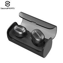 SoundPEATS TWS Bluetooth беспроводные наушники мини невидимые HiFi стерео Беспроводная гарнитура наушники для Iphone встроенный микрофон зарядная коробка