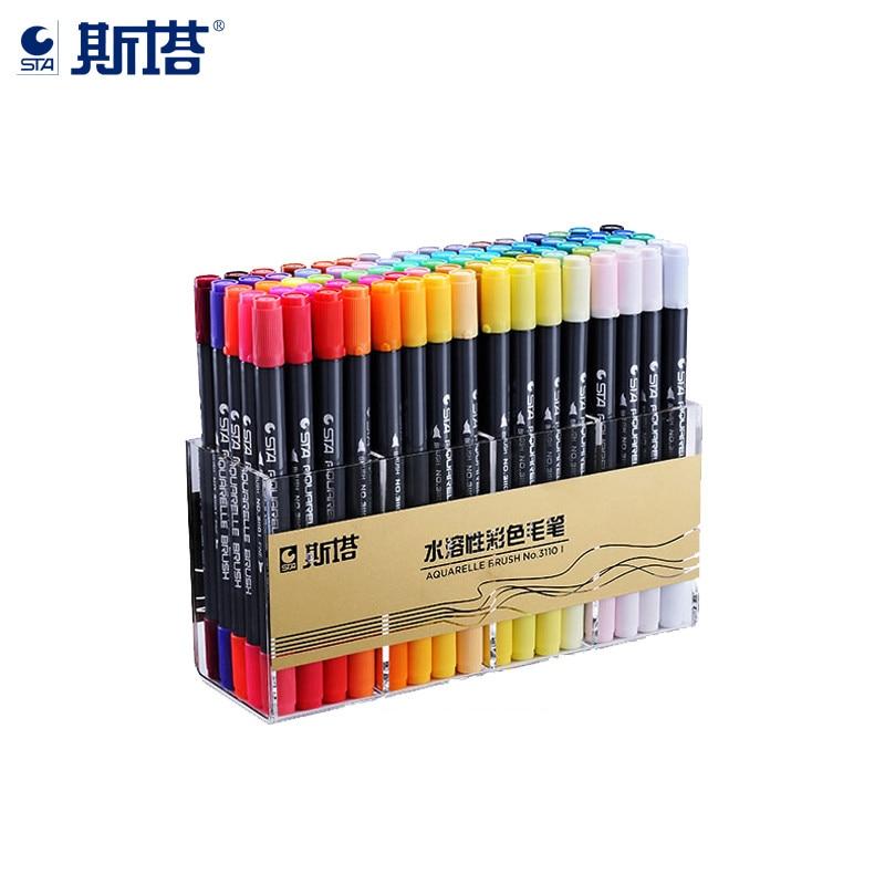 sta 80 cores duplo soluvel colorido desenho esboco do artista cabeca manga projeto de pintura materiais