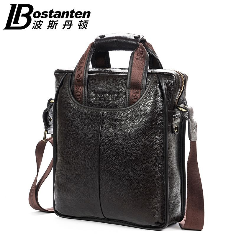 Bostanten Brand New Men s 100 Genuine Leather Cowhide Handbag Messenger Shoulder Tote Briefcase Laptop BAG