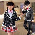 Baby Boys Girls Formal Clothing Suit Europe United 3Pcs Sets(Coat+T-shirt+Pant)Kids Bow-tie Causal Clothing Suit Kid Cotton Sets