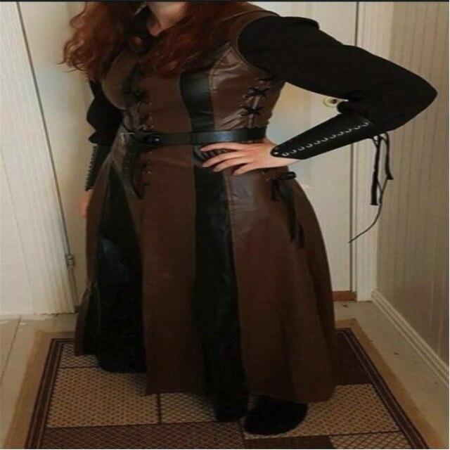 косплэй костюм средневековое Платье без рукавов 2