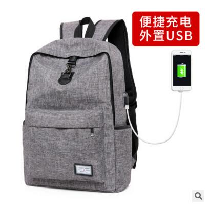 New Design USB Charging Men s Backpacks Male Casual Travel women Teenagers Student School Bags Simple