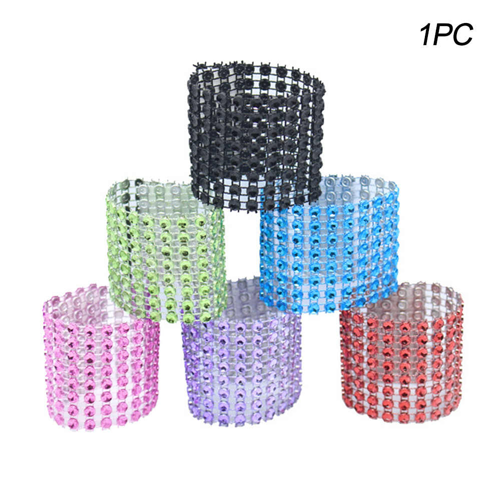 Tieback Decorative Napkin Curtain Clips Strap Window Diamante Crystal Rings Buckle