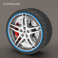 8 Meter/Roll 3M Car Wheel Hub Tire Sticker Car Decorative Styling Strip Wheel/Rim/Tire Protection Care Covers Auto Accessories