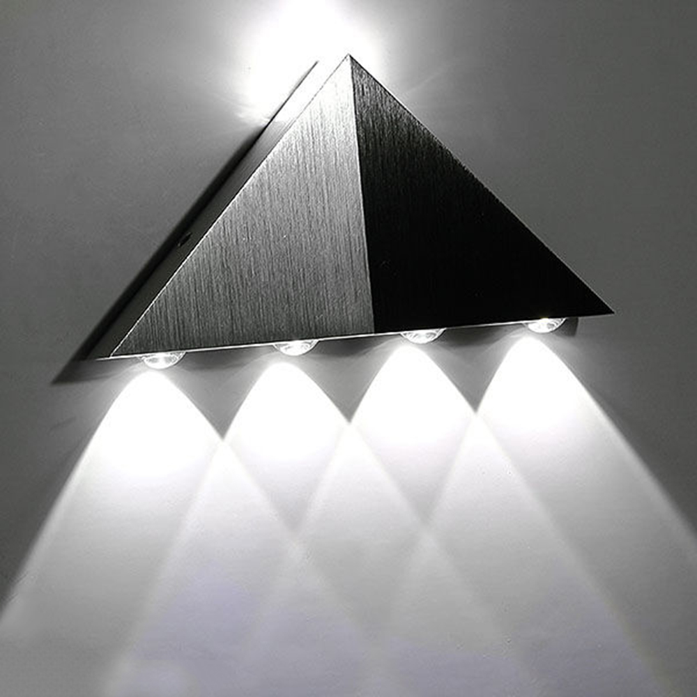online get cheap contemporary outdoor wall lights aliexpresscom  - cool white triangle led wall light lamp w aluminum modern home lightingindoor outdoor decoration ac