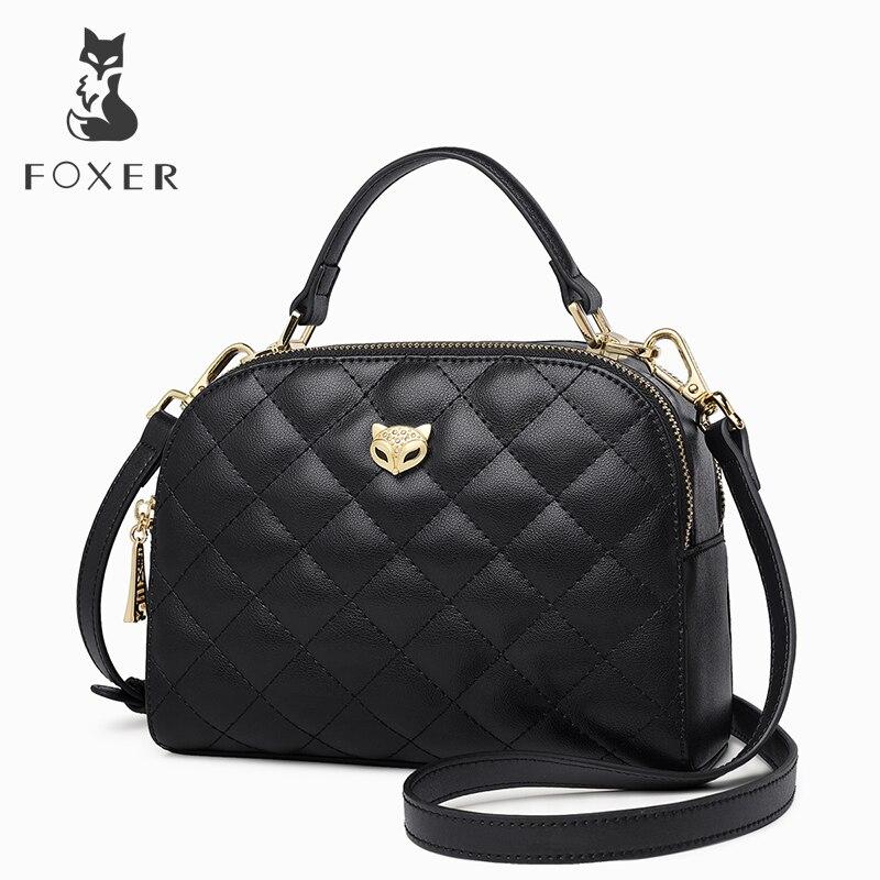 FOXER Brand Female Diamond Lattice Shoulder Bag Crossbody Bag Women Chic Message Bag Valentine s Day