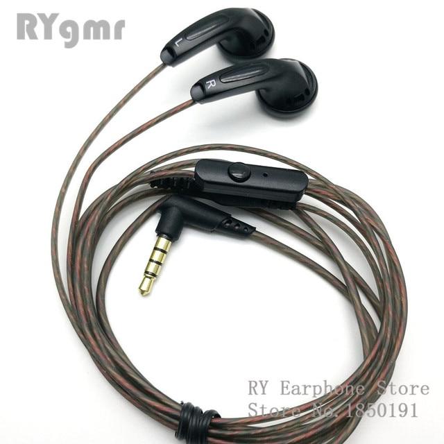 RY4S الأصلي في الأذن سماعة 15 مللي متر الموسيقى جودة الصوت HIFI سماعة (MX500 نمط سماعة) 3.5 مللي متر ل الانحناء hifi كابل