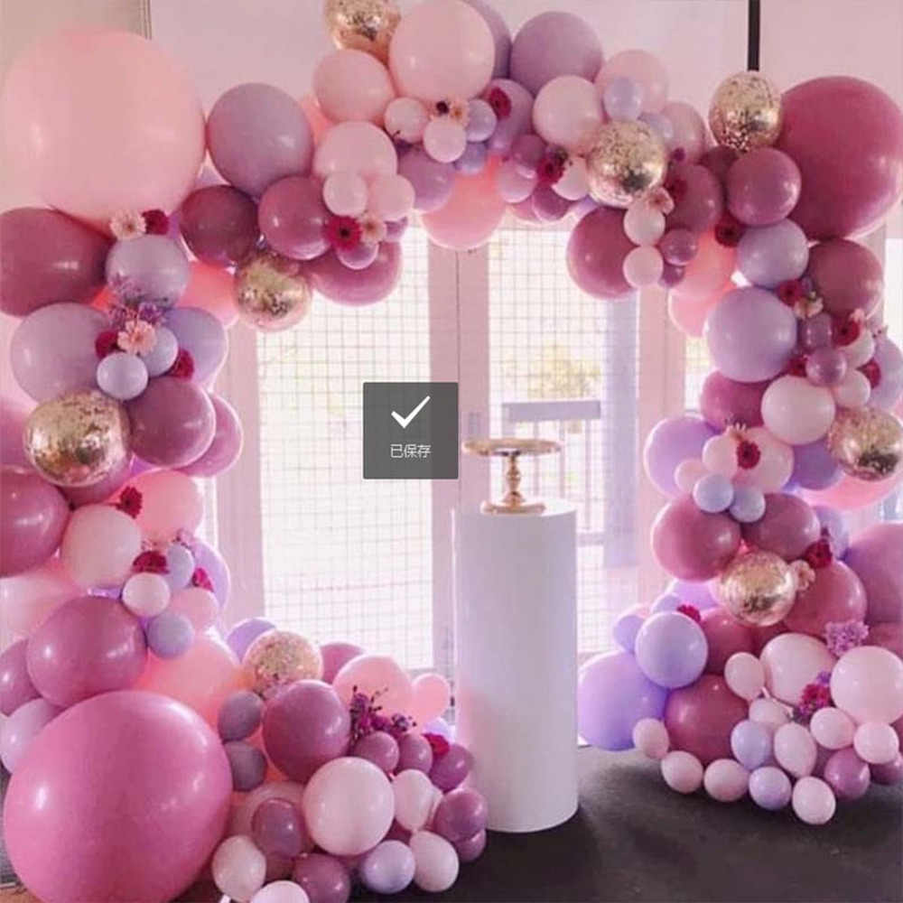 100Pcs Pink Macaron Balloons Arch Baby Shower Decoration Birthday Wedding Party Deco Christening Favors Pastel Balloons Garland